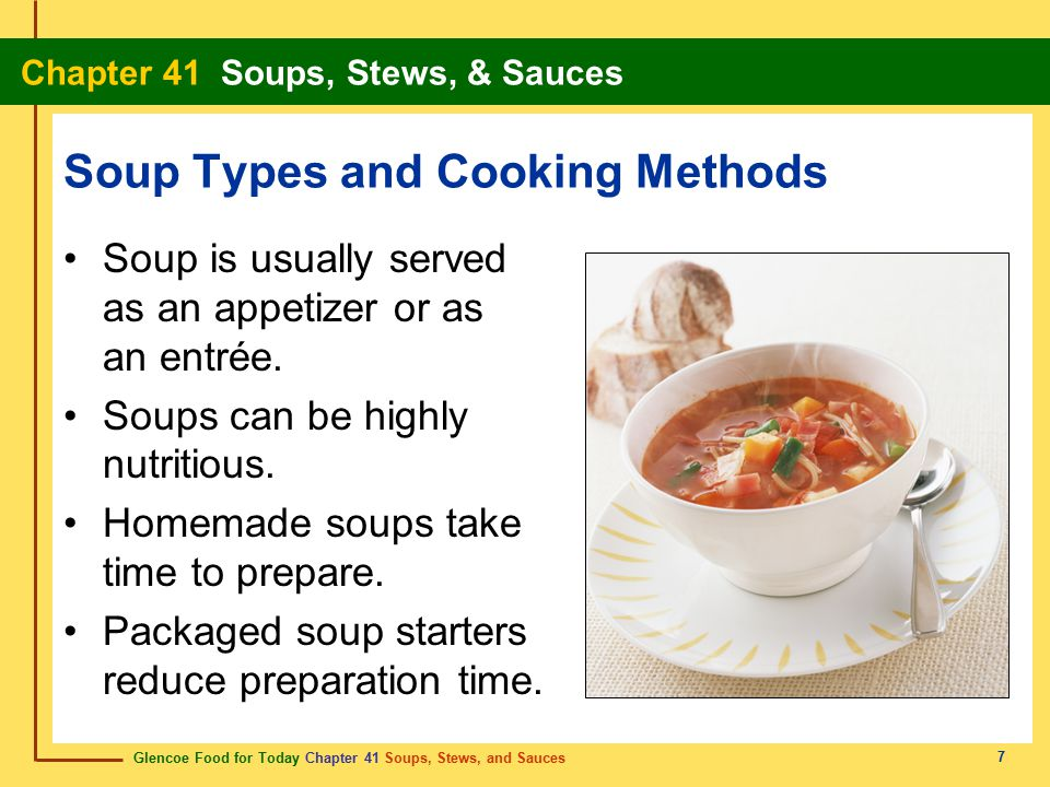Soup Types and Cooking Methods