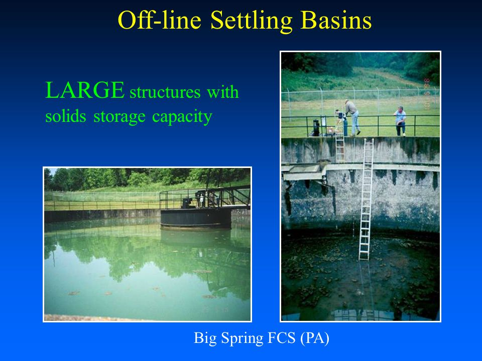 Off-line Settling Basins