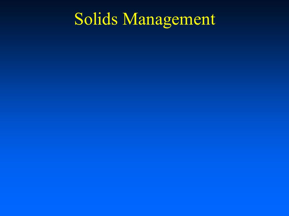 Solids Management Recirculating Aquaculture Workshop