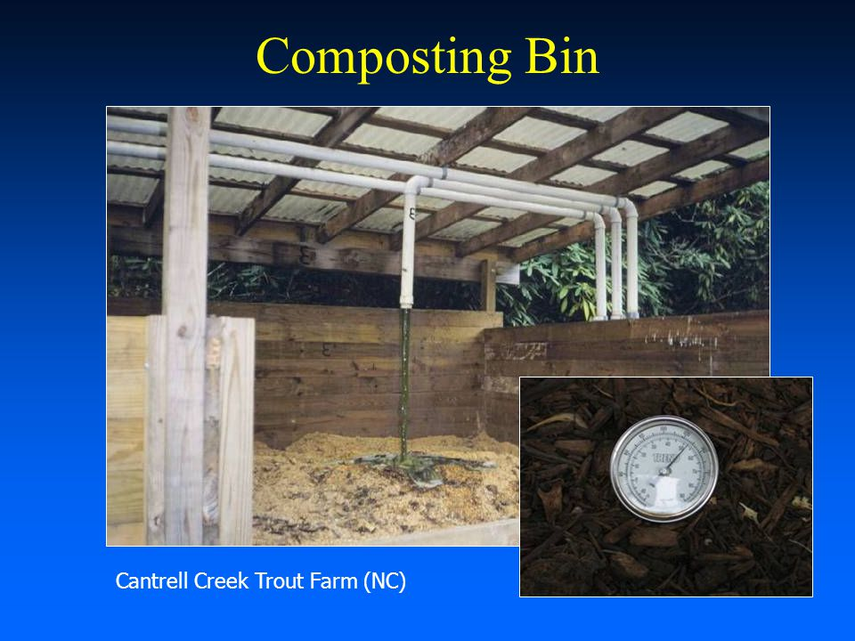 Composting Bin Cantrell Creek Trout Farm (NC)