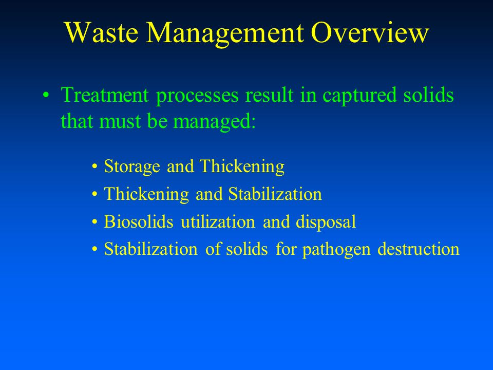 Waste Management Overview