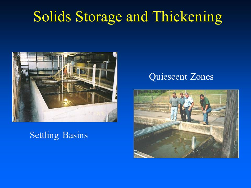Solids Storage and Thickening