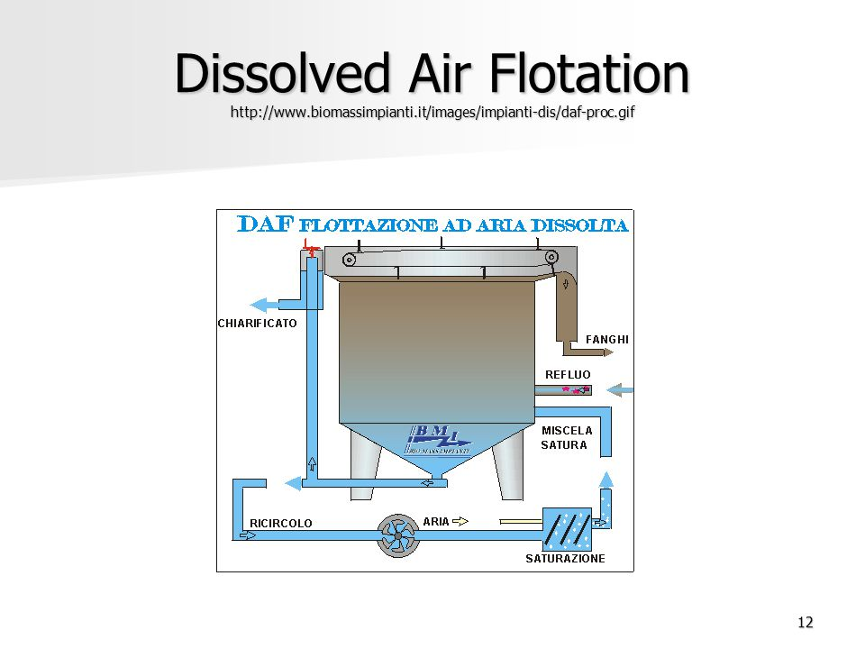 Dissolved Air Flotation http://www. biomassimpianti