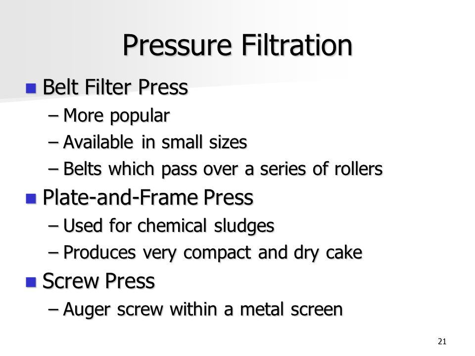 Pressure Filtration Belt Filter Press Plate-and-Frame Press