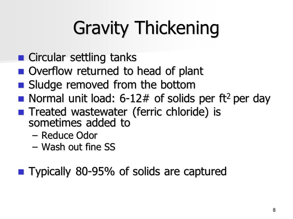 Gravity Thickening Circular settling tanks