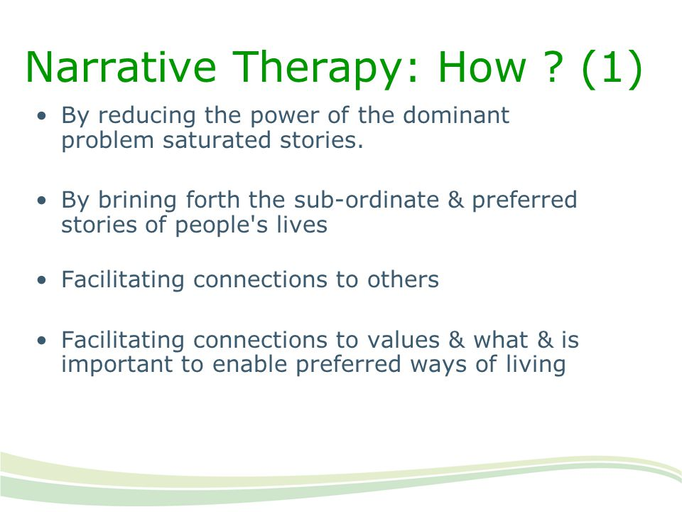Narrative Therapy: How (1)