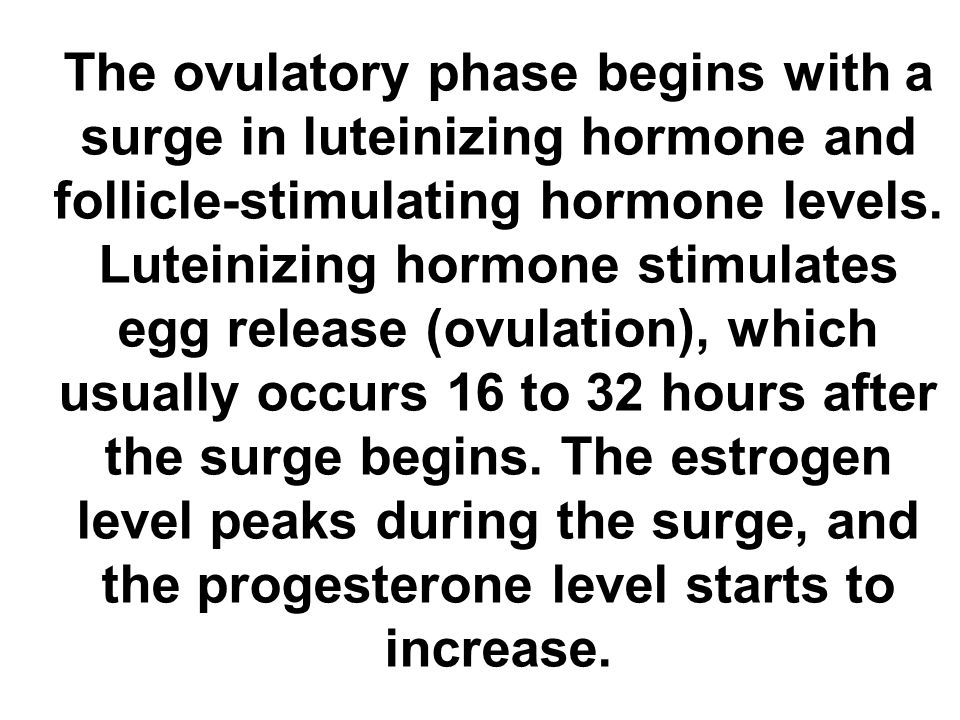 The ovulatory phase begins with a surge in luteinizing hormone and follicle-stimulating hormone levels.