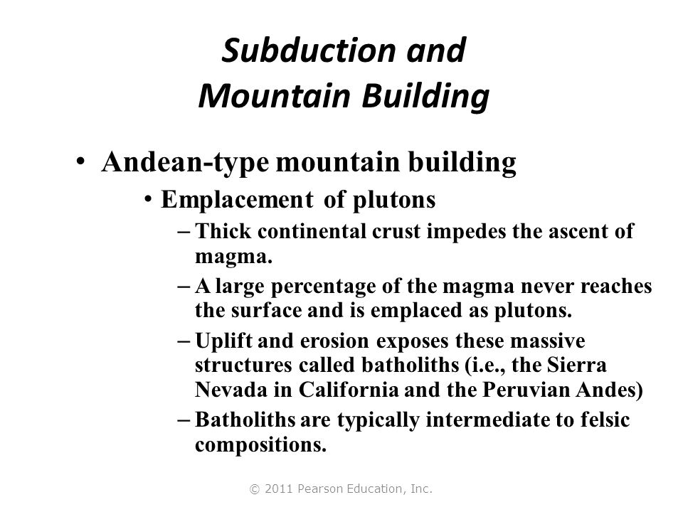 Subduction and Mountain Building