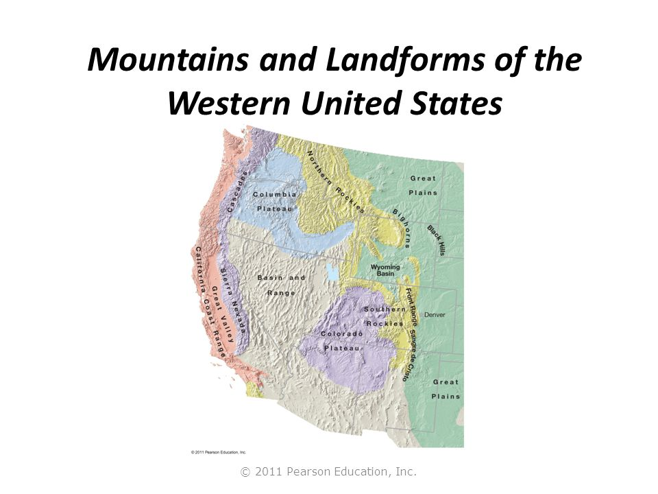 Mountains and Landforms of the Western United States