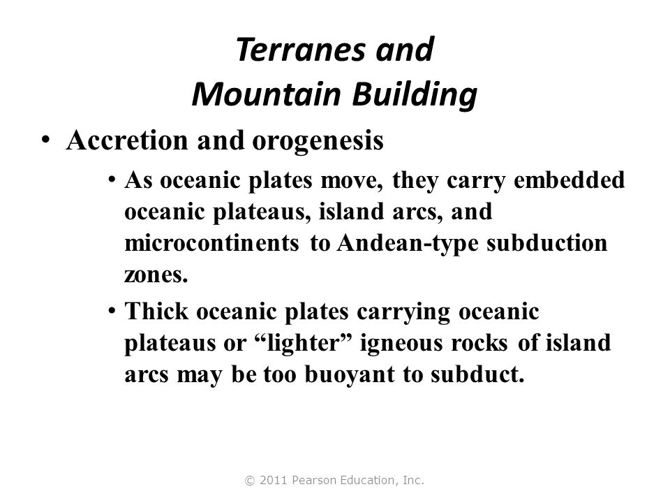 Terranes and Mountain Building