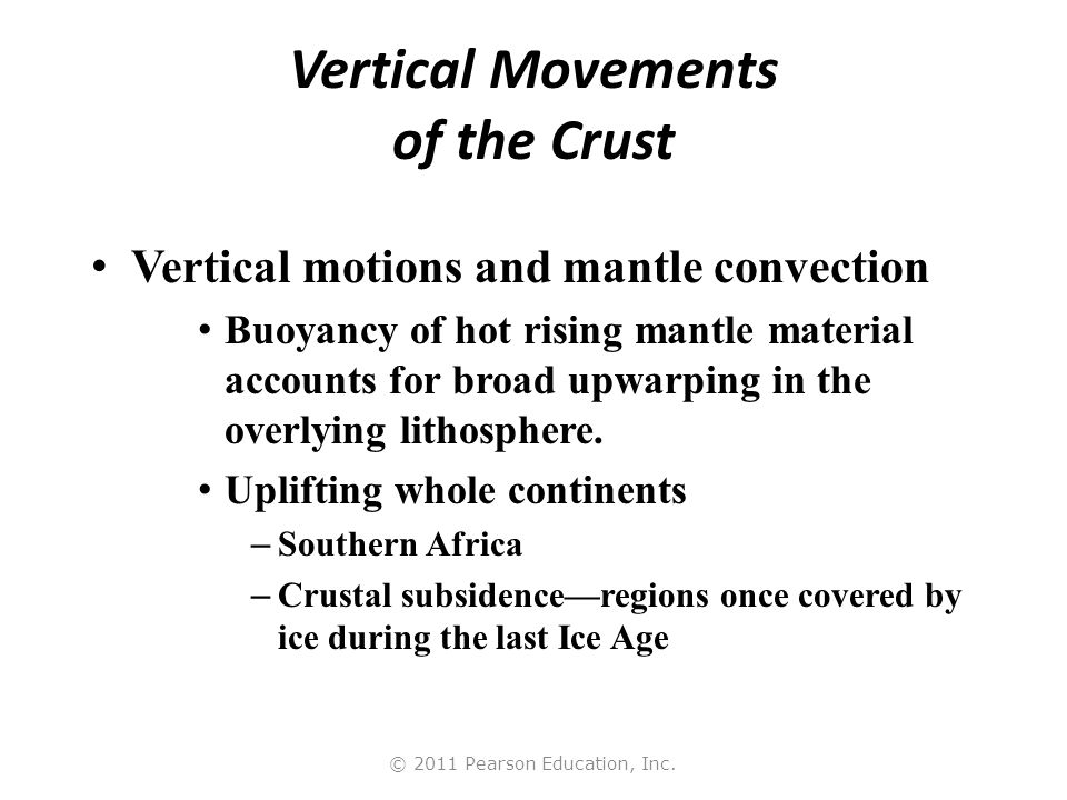 Vertical Movements of the Crust
