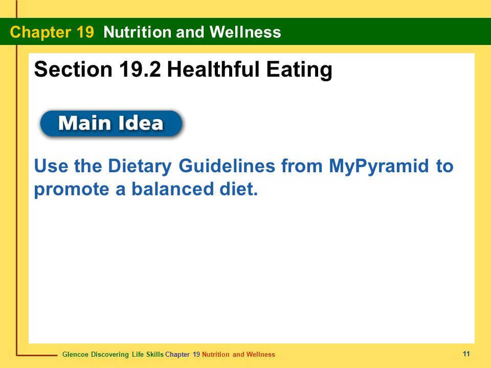 Section 19.2 Healthful Eating