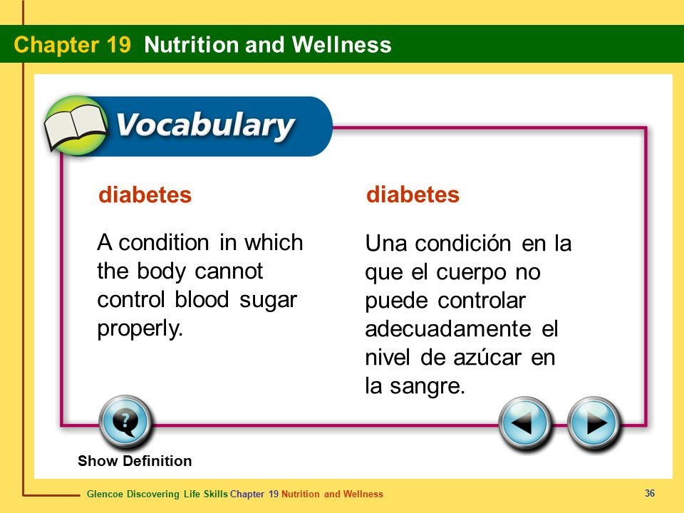 A condition in which the body cannot control blood sugar properly.