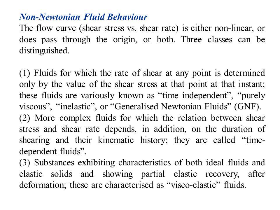 Non-Newtonian Fluid Behaviour