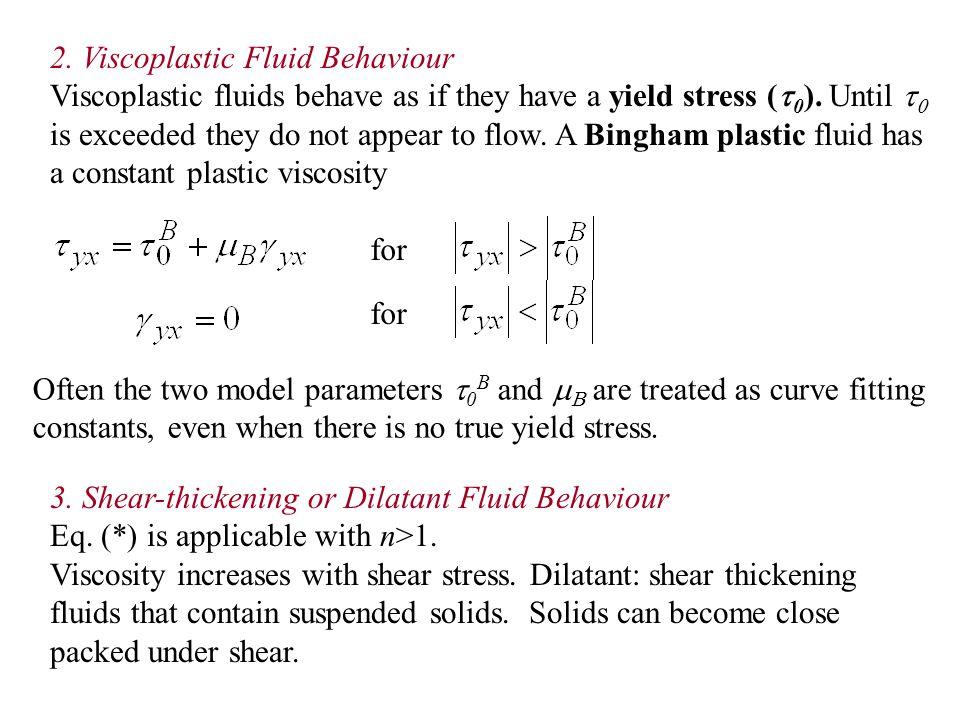 2. Viscoplastic Fluid Behaviour