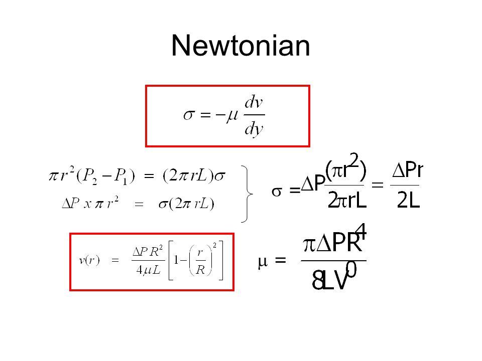 Newtonian  =  =