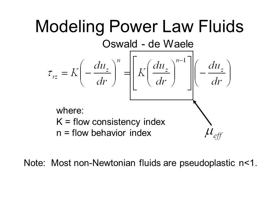 Modeling Power Law Fluids
