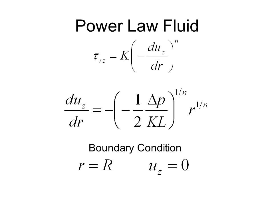 Power Law Fluid Boundary Condition