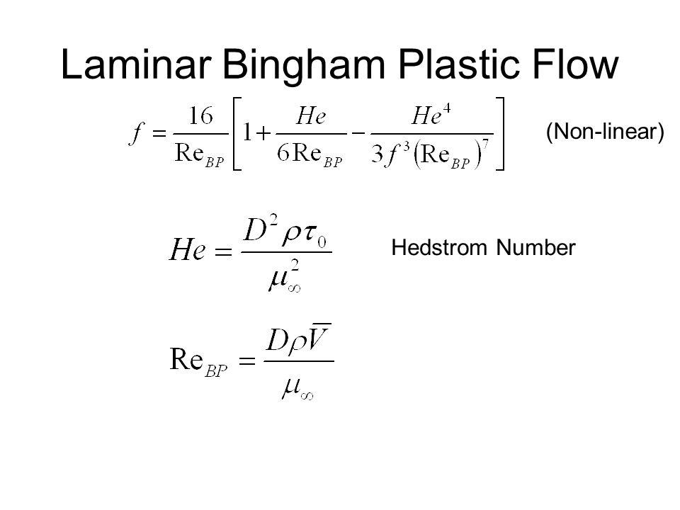 Laminar Bingham Plastic Flow