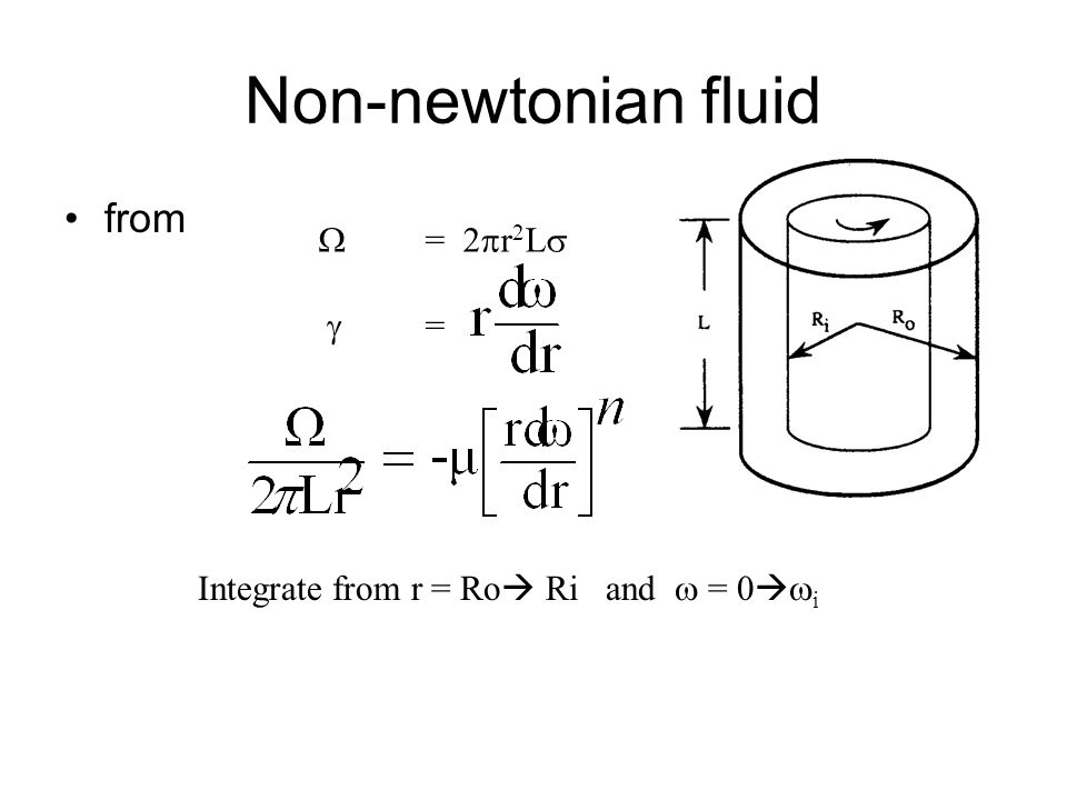 Non-newtonian fluid from  = 2r2L  =