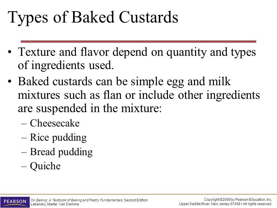 Types of Baked Custards