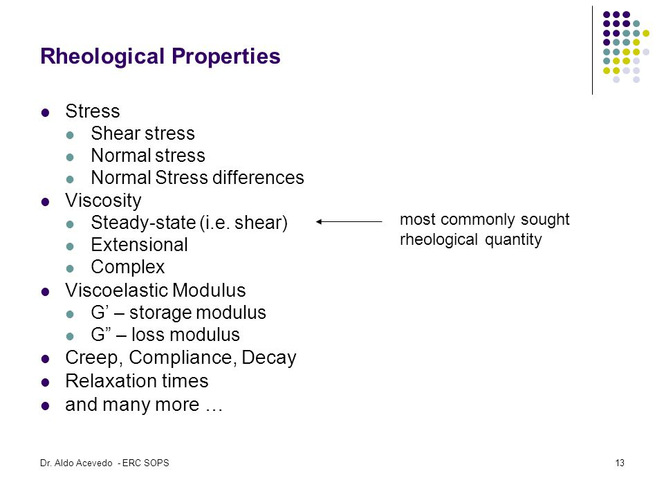 Rheological Properties