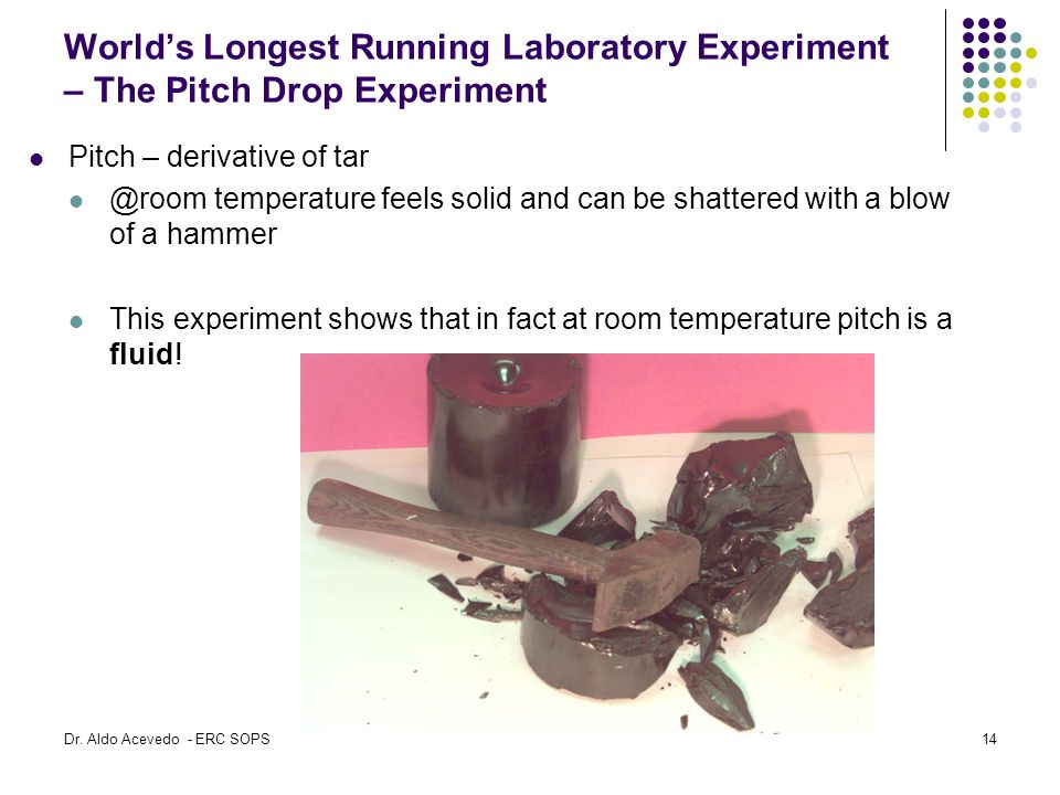 World's Longest Running Laboratory Experiment – The Pitch Drop Experiment