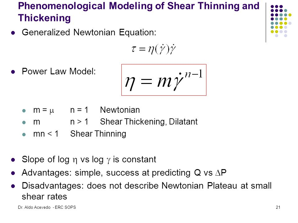 Phenomenological Modeling of Shear Thinning and Thickening