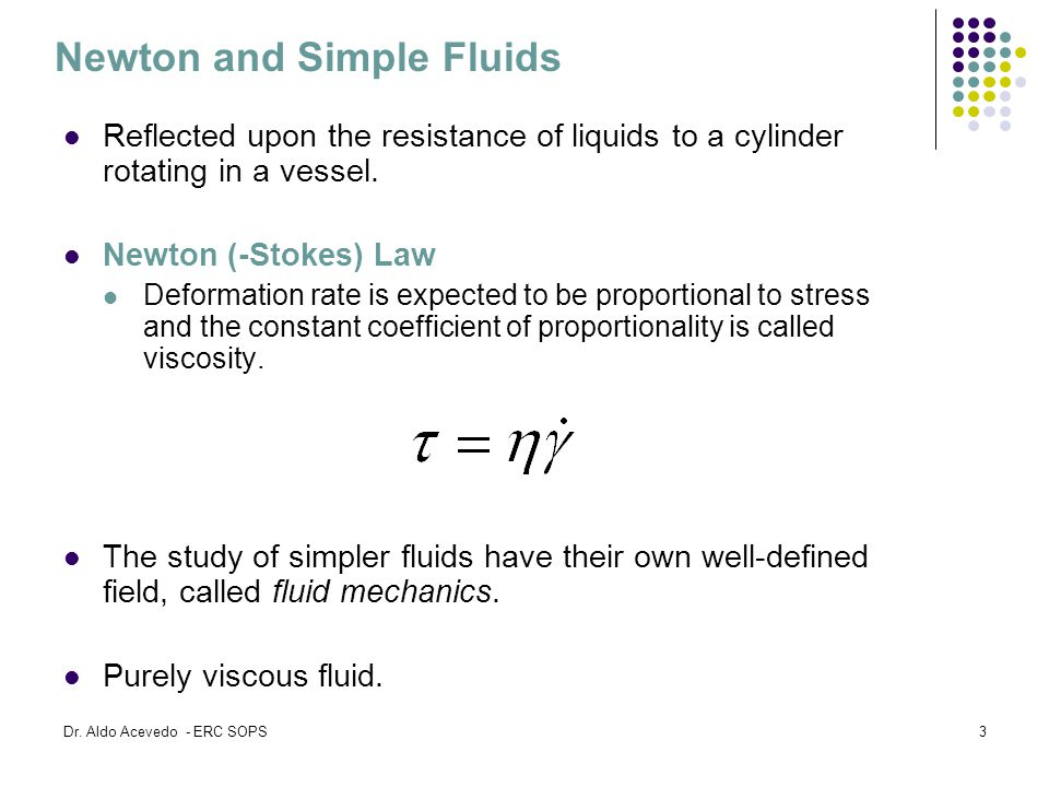 Newton and Simple Fluids