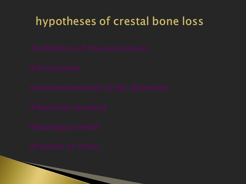 hypotheses of crestal bone loss