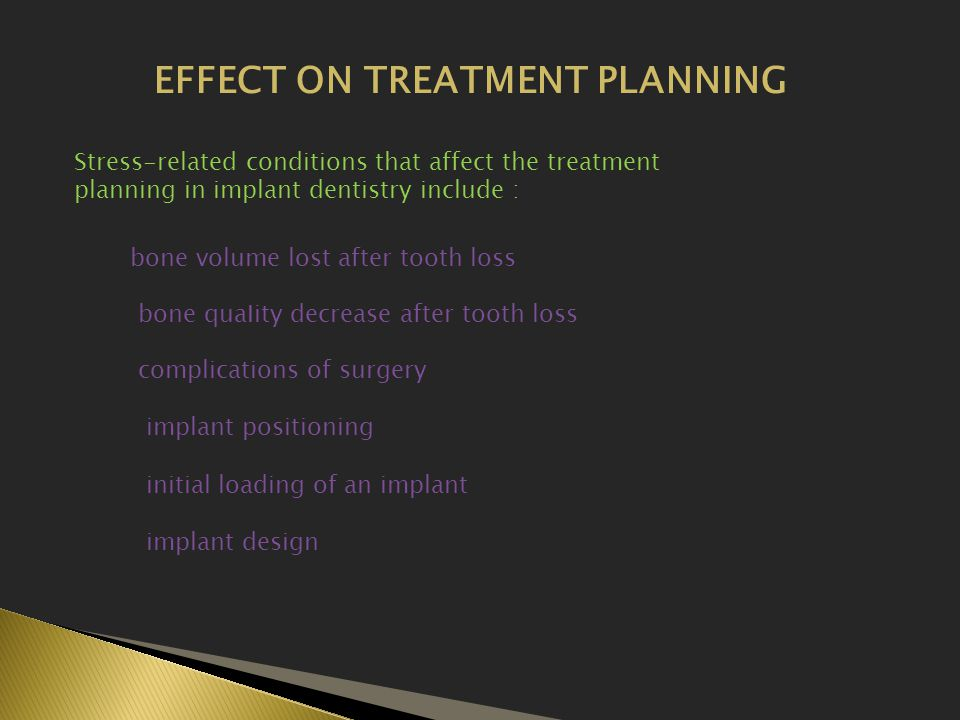 EFFECT ON TREATMENT PLANNING