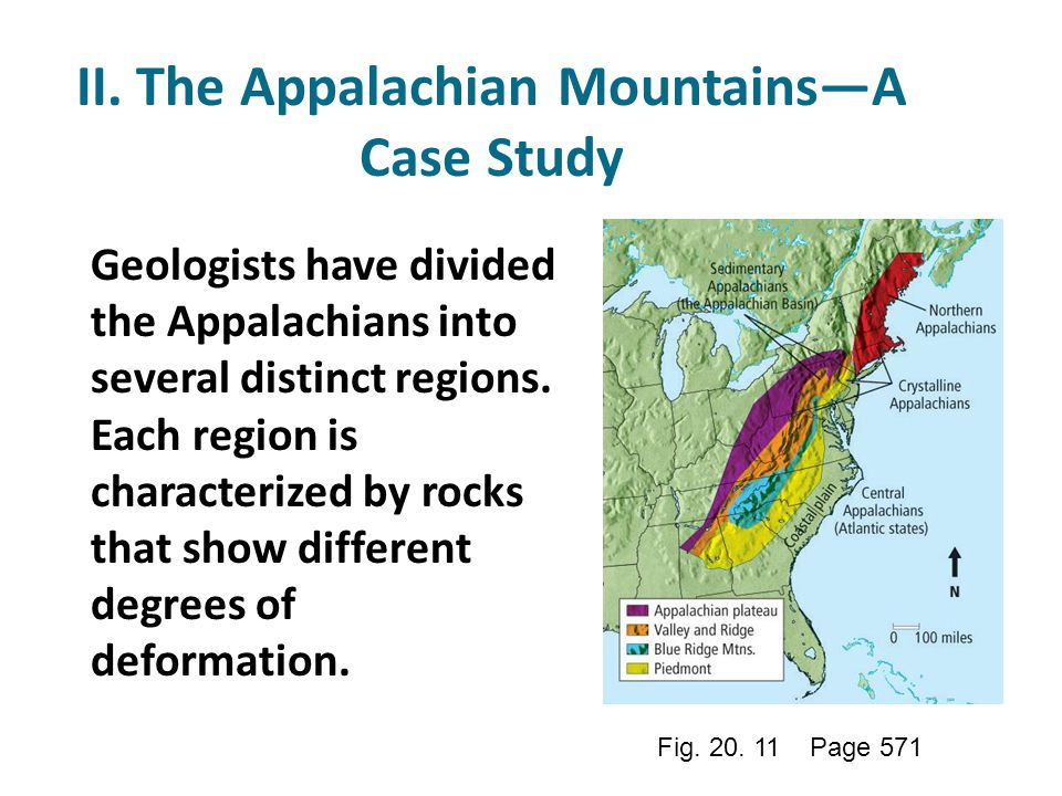II. The Appalachian Mountains—A Case Study