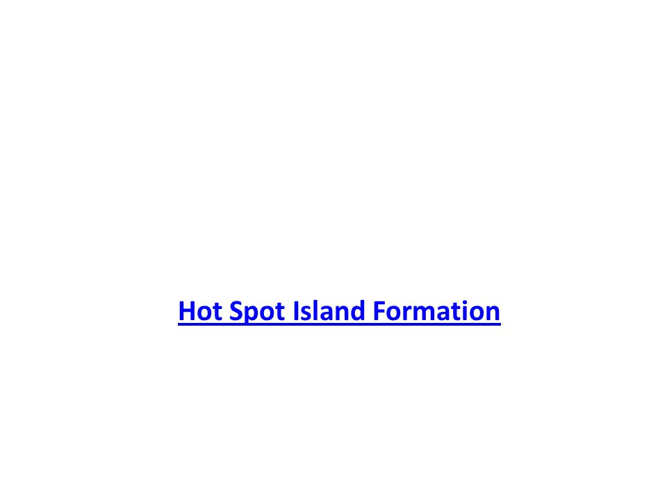 Hot Spot Island Formation