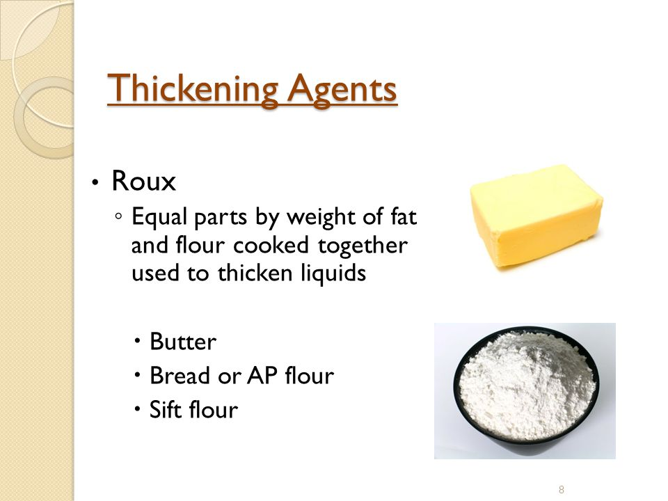 Thickening Agents Roux