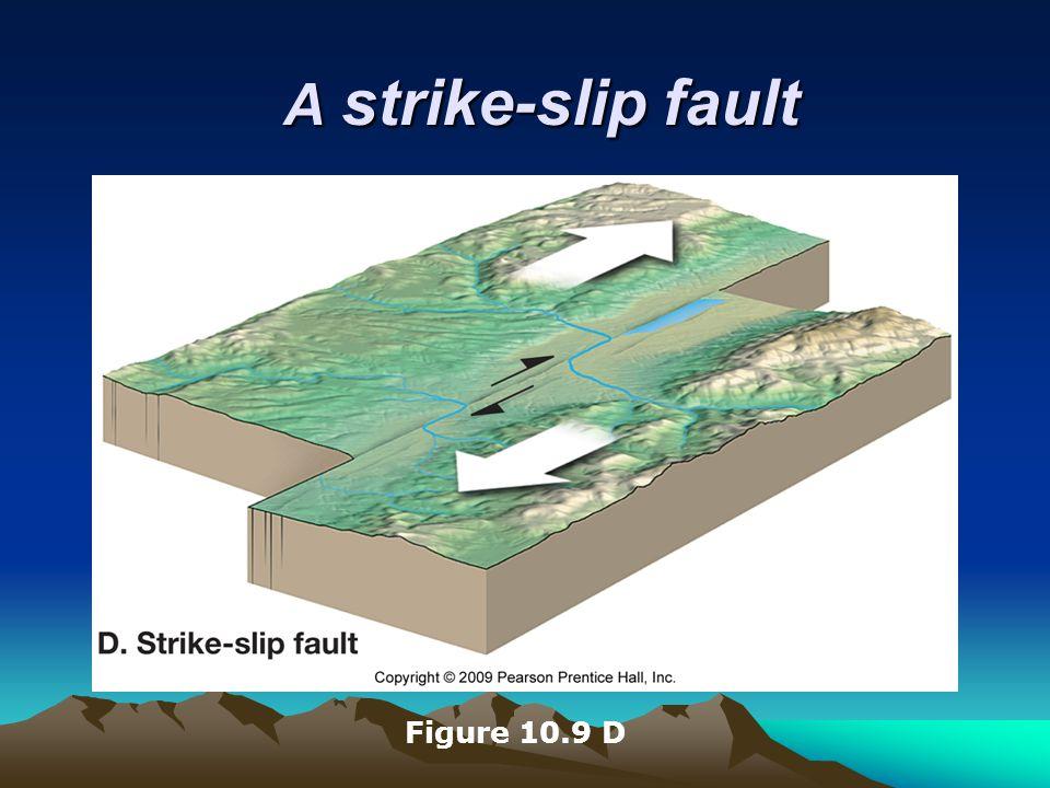 A strike-slip fault Figure 10.9 D