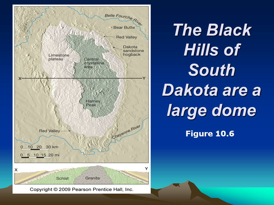 The Black Hills of South Dakota are a large dome