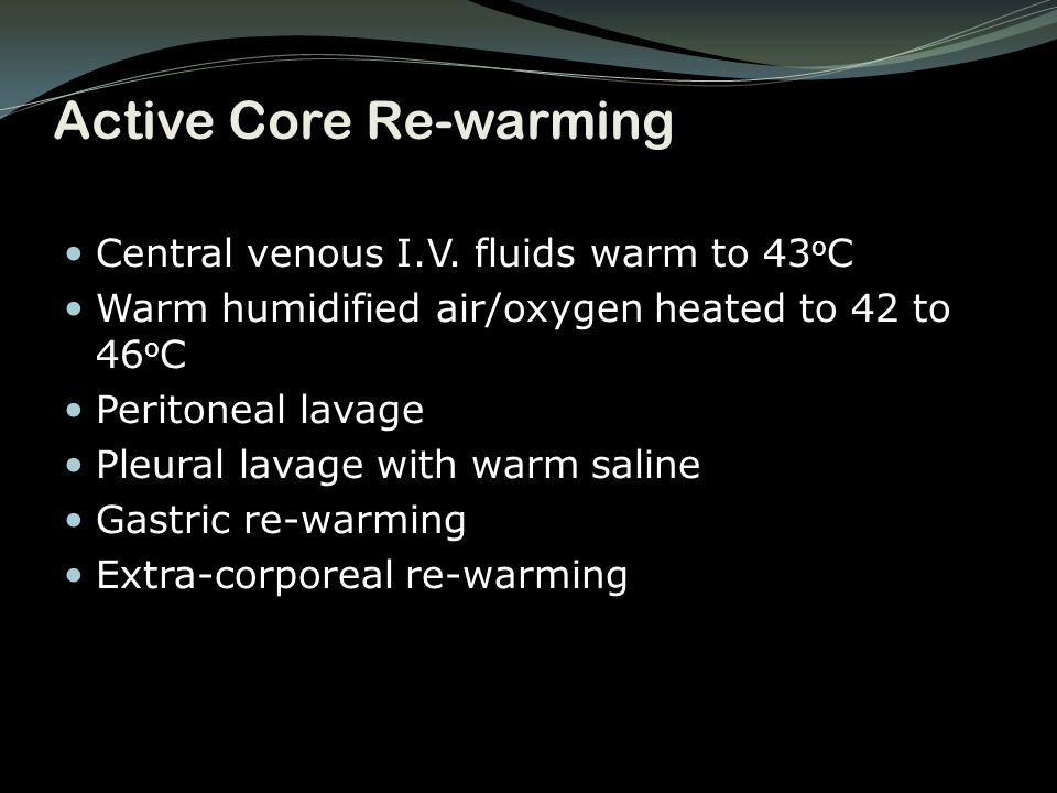 Active Core Re-warming