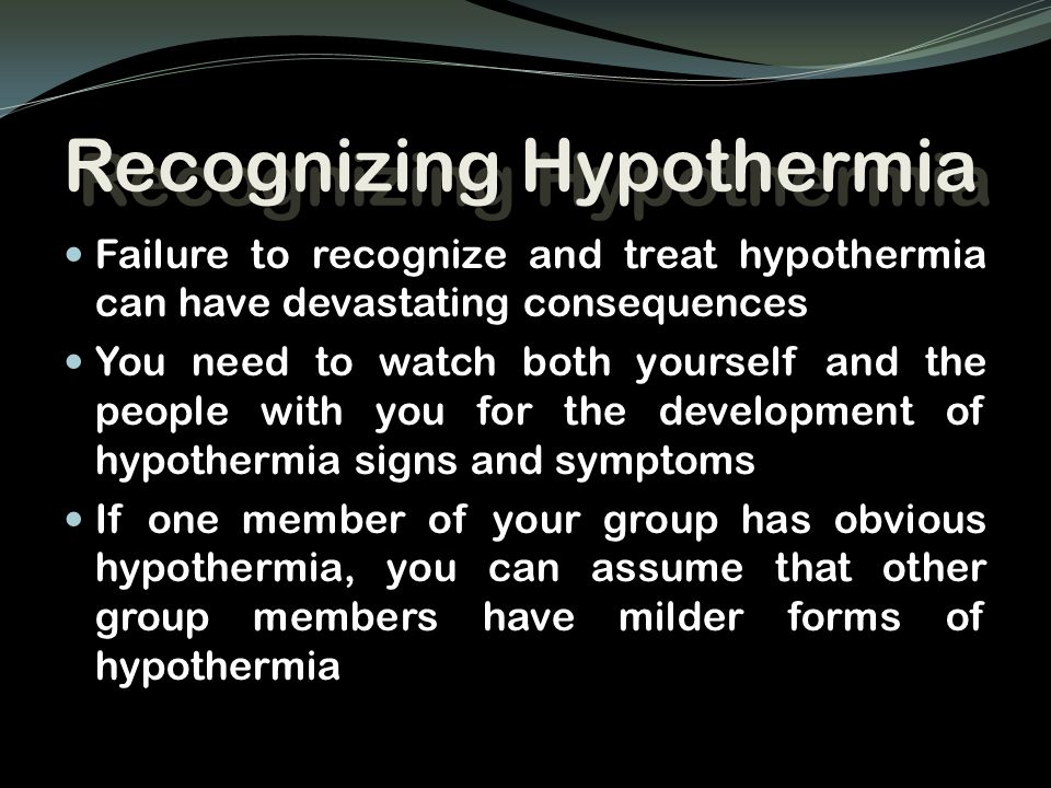 Recognizing Hypothermia