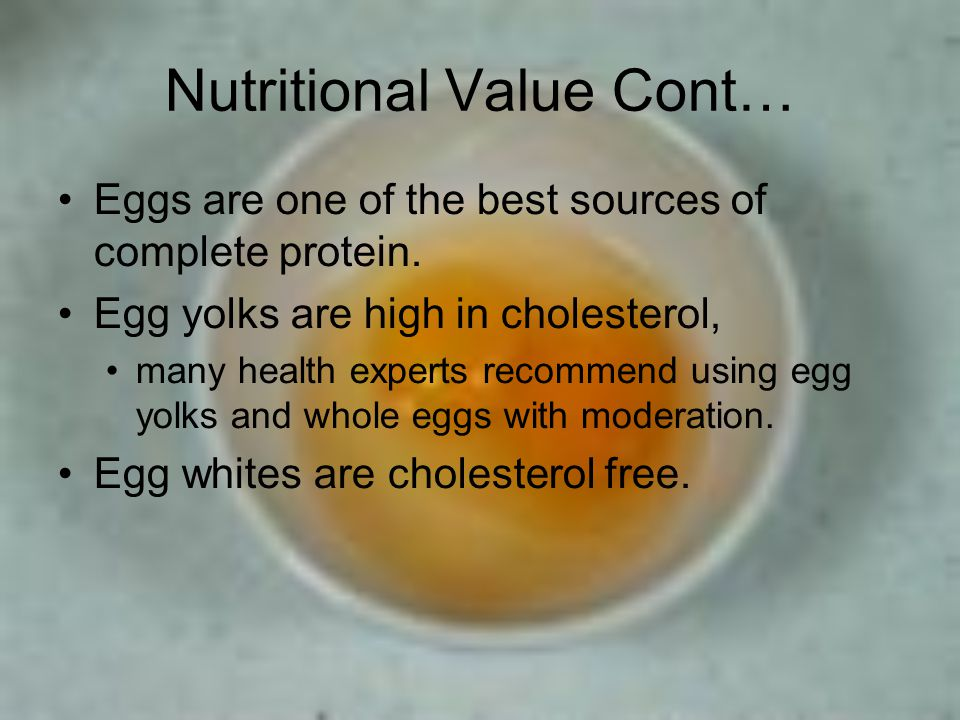 Nutritional Value Cont…