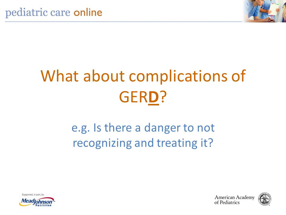 What about complications of GERD