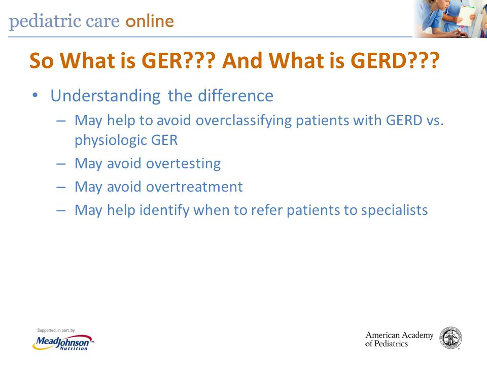 So What is GER And What is GERD