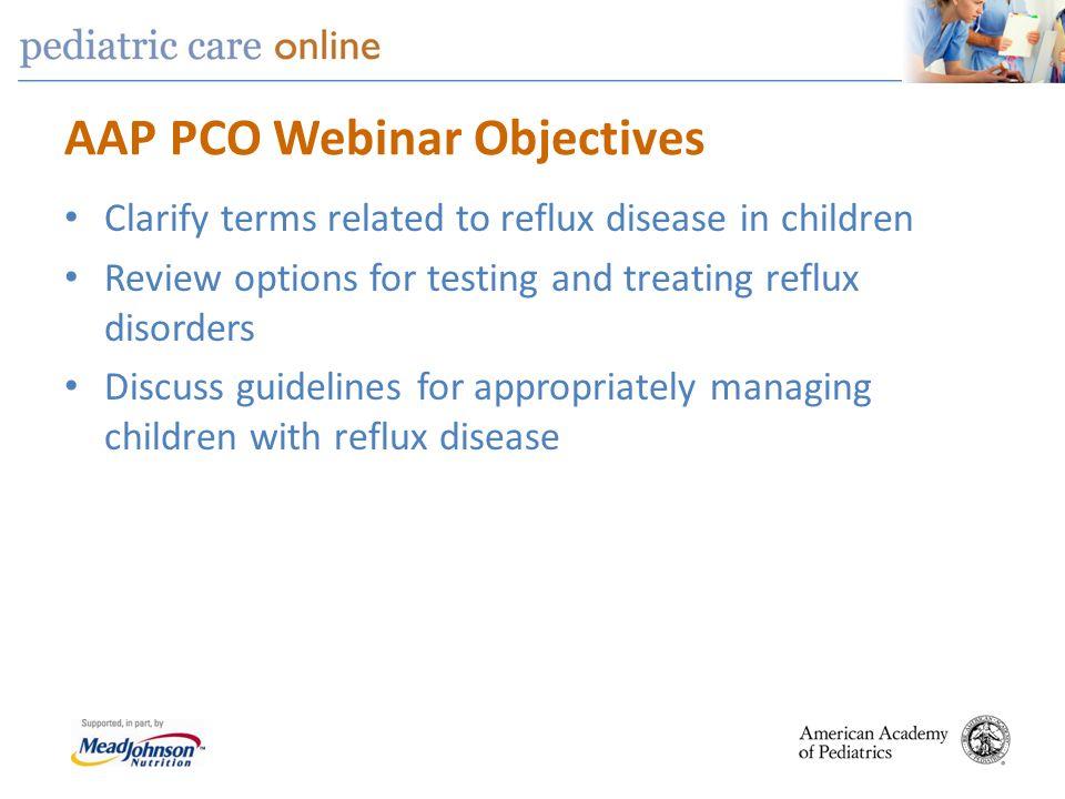AAP PCO Webinar Objectives