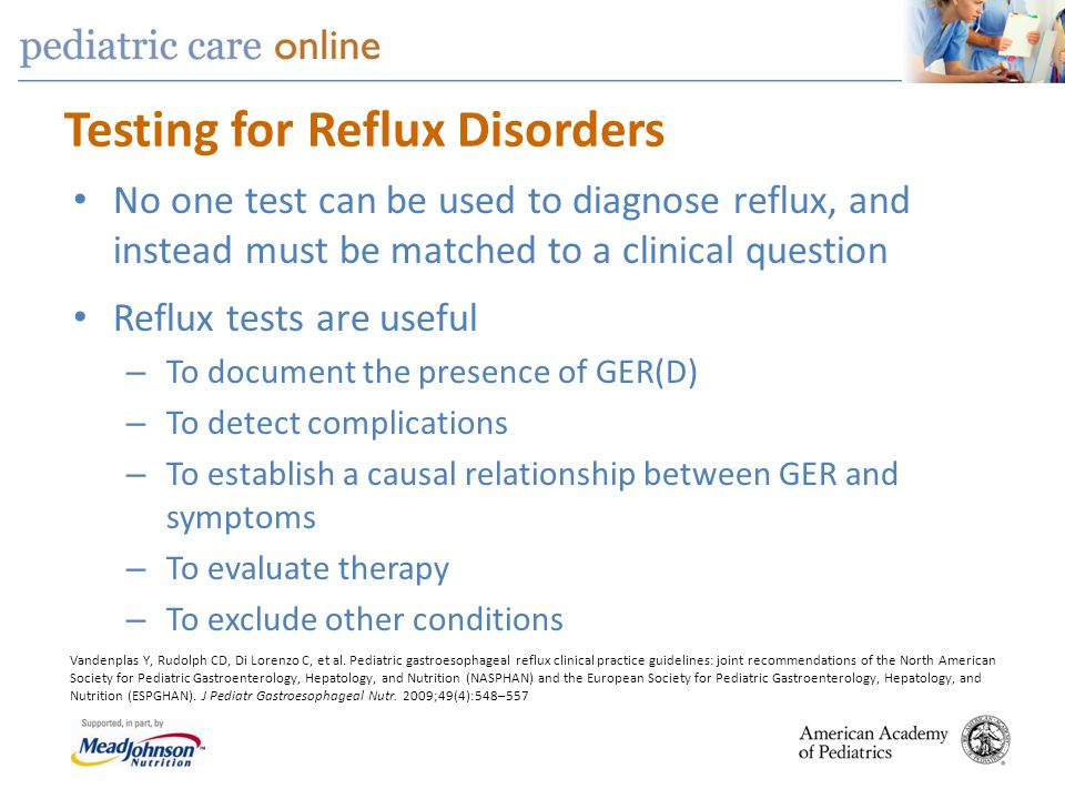 Testing for Reflux Disorders