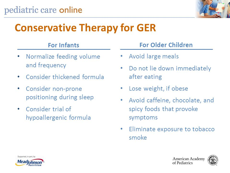 Conservative Therapy for GER