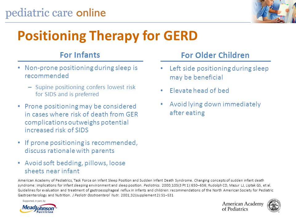 Positioning Therapy for GERD