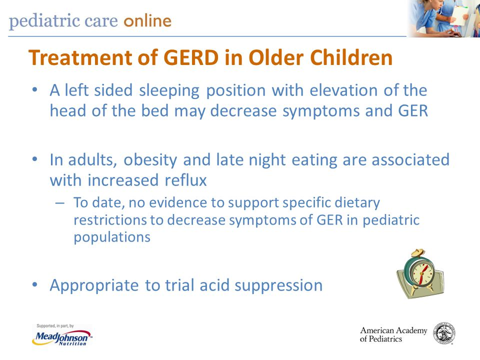 Treatment of GERD in Older Children