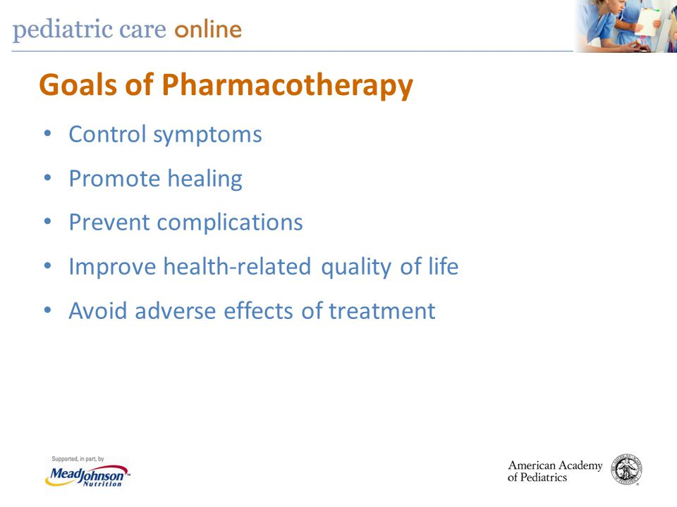 Goals of Pharmacotherapy
