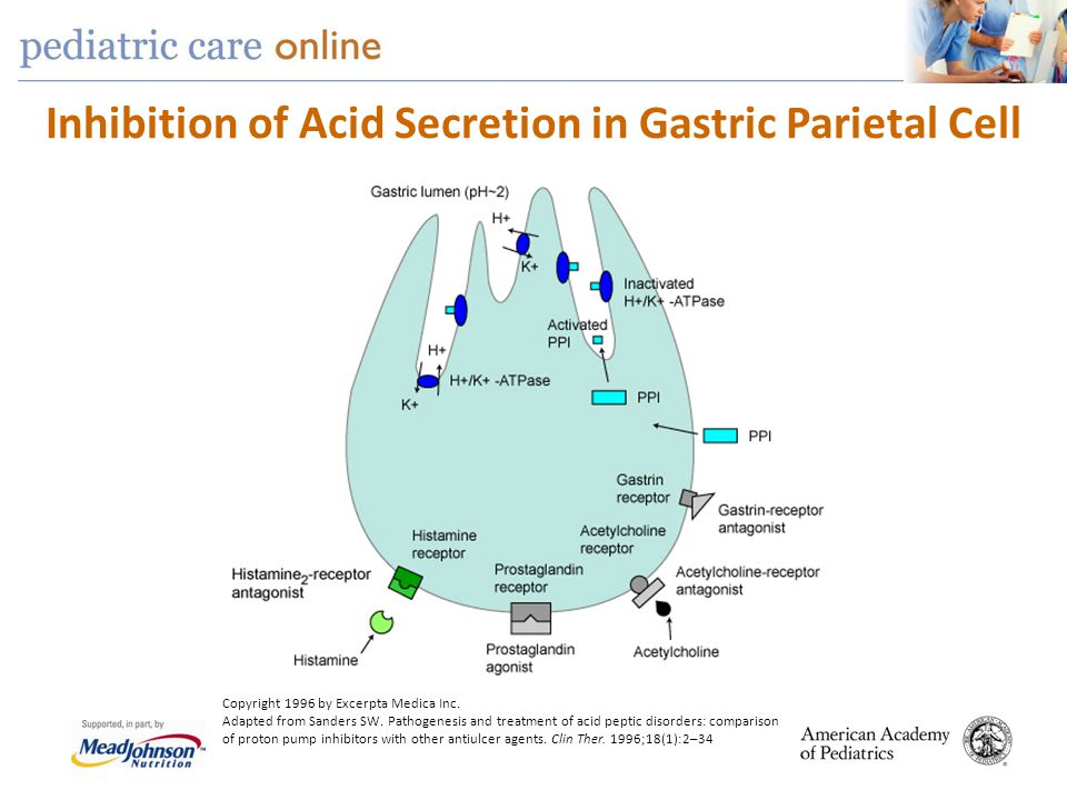 Inhibition of Acid Secretion in Gastric Parietal Cell