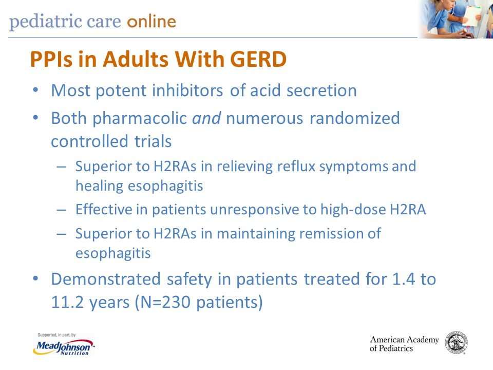 PPIs in Adults With GERD