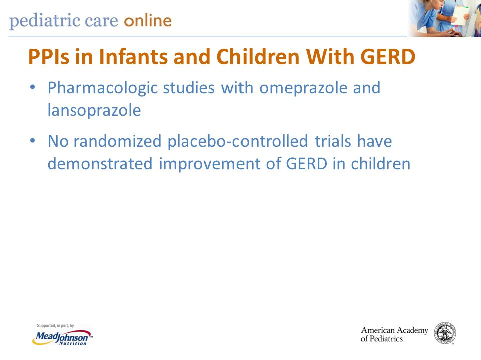 PPIs in Infants and Children With GERD